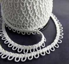 White Adjacent Elastic Bridal Button Looping Trim - Ready to use Wedding Button Holes Crochet Buttons, Crochet Hooks, Sewing Hacks, Sewing Crafts, Modelista, Dress Sewing Patterns, Sewing Notions, Fashion Sewing, Ribbon Embroidery
