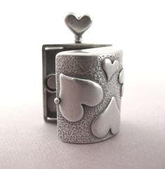 Sterling Silver Heart Locket - 24mm X 18mm