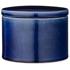 Ceramic koristerasia, merensininen ryhmässä Sisustustavarat / Koristerasiat / Laatikot & Rasiat @ ROOM21.fi (1023024)