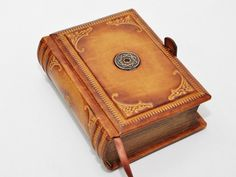 Leather handmade journal antique style 4x6 inch 10x15 by dragosh, $98.00