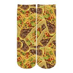 Sublime Designs Youth Crew Fun Printed Socks-Savory Taco Supreme Foodie