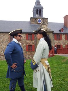 #Chef #VickyRatnani talking to a soldier at Fortress #Louisbourg National Historic Site — at Fortress of Louisbourg National Historic Site.