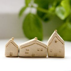 Miniature clay houses by DianaParkhouse on etsy