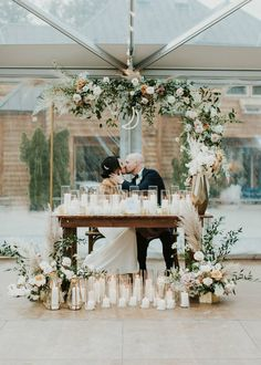 Wedding photography, why not see these romantic pin image reference 2618996933 now. Reception Table Decorations, Decoration Table, Wedding Decorations, Sunset Wedding, Floral Wedding, Wedding Photography Examples, People Photography, Bride Groom Table, Purple And Silver Wedding