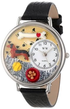 Whimsical Watches Unisex U0130034 Dachshund Black Skin Leather Watch Whimsical Watches http://www.amazon.com/dp/B002DI7QJ0/ref=cm_sw_r_pi_dp_68oxub0J4YBPS