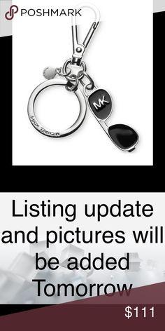 Michael Kors Aviator Sunglass Charm Keychain NWT Michael Kors Aviator Sunglass Charm Keychain. Black/Silver-Tone, Key Ring; carabiner Clip Closure.   No Holds No Trades Michael Kors Accessories Key & Card Holders