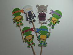 Teenage Mutant Ninja Turtle Cupcake Toppers by TheLoveofPaper5