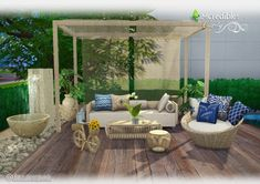 Clarity garden set at SIMcredible! Designs 4 via Sims 4 Updates
