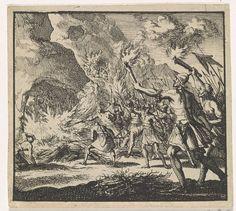 Jan Luyken   Krijgslieden van Antiochus Epiphanes gaan te keer op de sabbat, Jan Luyken, 1698  