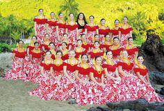 hula auana dress - Google Search