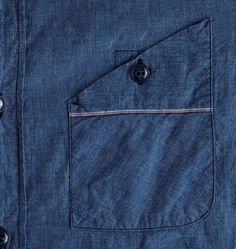 crew Mister Freedom® Utility Chambray Workshirt in Blue for Men (rustic blue) Mens Casual Dress Outfits, Casual Shirts, Fashion Outfits, Style Masculin, Mens Designer Shirts, Indian Men Fashion, Boys Shirts, Shirt Style, Menswear