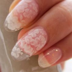 like lace flower nail