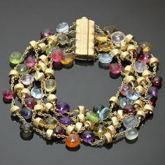 2010s-MARCO-BICEGO-Paradise-Multicolor-Gemstone-Multi-Strand-Bracelet