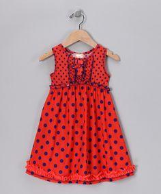 Orange Polka Dot Dress - ADORABLE and so simple to make!
