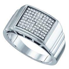 0.50ctw, J-K Color, I2-I3 Clarity Mens 10k Two Tone Gold Diamond Square Stud Earrings 13mm