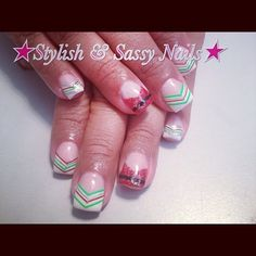 My Christmas cheer nails Nails By: Crystal Lee Shumway I love them!!!!