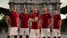 The official launch of Roma's 2015-16 home kit.