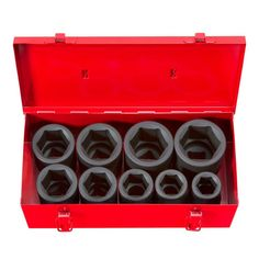 TEKTON 1 in. Drive 1-2 in. 6-Point Deep Impact Socket Set
