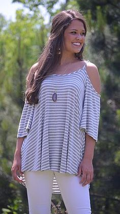 ShopBlueDoor.com: This soft and stretchy jersey knit top is a few steps above your average tee! $34