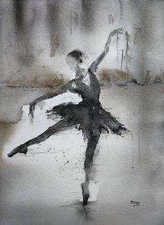 """Saatchi Art Artist OSCAR ALVAREZ; Painting, """"Sueños de bailarina 11"""" #art"""