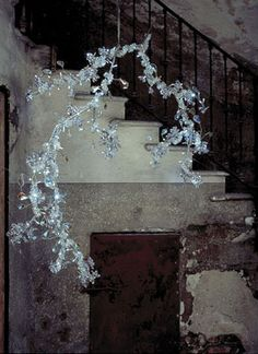 Tord Boontje Blossom chandelier  framing, texture, muted palatte-love