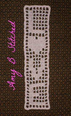 A Stitch At A Time for Amy B Stitched: Heart of Love Filet Crochet Bookmark Pattern and my New Crochet Stitch Software!!!!
