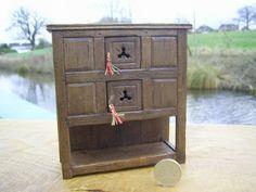 1:12 scale hand made Tudor livery cupboard
