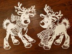 Christmas Stencils, Christmas Crafts, Christmas Decorations, Christmas Ornaments, Diy And Crafts, Paper Crafts, Image Font, Wood Carving Patterns, Santa And Reindeer