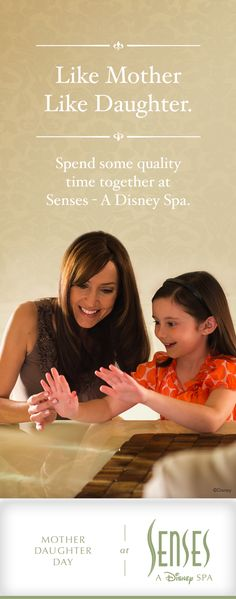 Treat Mom (or yourself!) to some pampering at Senses - A Disney Spa. Visit http://di.sn/r4d for more enchanting details. *Services subject to change. #DisneyWorld #SensesSpa #MotherDaughter