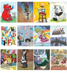 The Read Every Day. Lead a Better Life. posters created in honor of Scholastic's 90th Anniversary.