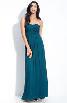 Amsale chiffon bridesmaid dresses in Grass, Ocean, Slate, French Blue, Navy, and Champagne?