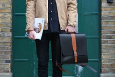 Albion backpack in the city of London. London City, Leather Satchel, Parka, Messenger Bag, Take That, Backpacks, Unisex, Bags, Fashion