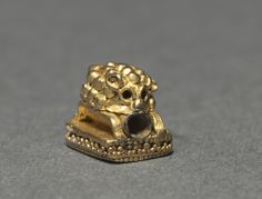 Western Asia, Scythian, 4th-3rd Century BC, gold, soldered or fused with granulation, Overall: 0.70 x 0.70 x 0.90 cm (1/4 x 1/4 x 5/16 inches). Gift of Keith P. Smith 1985.180