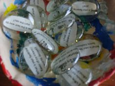 Check out these Conversation Stones.  I'm sure there is a variation of this to use in the waiting room of your private practice . . . .  Possibly using power words or images for metaphors or affirmations or character traits?