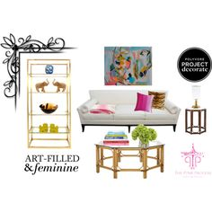 """""""Clean & Polished, Art-Filled & Feminine"""" by mpsakatrixie on Polyvore"""