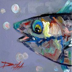 Poisson sauvage, peinture de Delilah Smith