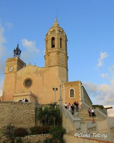 The Church of Sitges by the Sea - Prov. Barcelona, Catalonia.