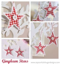 Gingham Stars - I originally found this great project on freeneedle.com along with 1,000s of other free sewing and craft ideas!