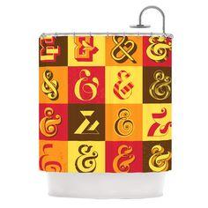 "Roberlan ""Ampersands"" Typography Shower Curtain | KESS InHouse"