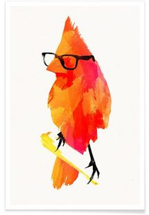 Punk birdy - Róbert Farkas - Affiche premium