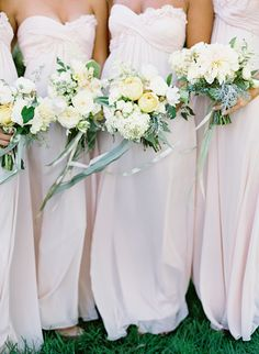 soft bridesmaids dresses