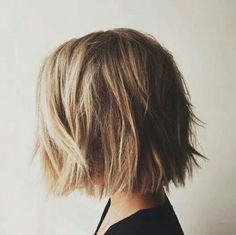 Tousled cut for fine hair