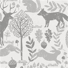Gray Woodland Animals