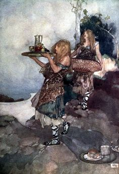 Princess Ida or Castle Adamant' by W. S. Gilbert. With coloured illustrations by William Russell Flint. Published 1912 by G. Bell & Sons