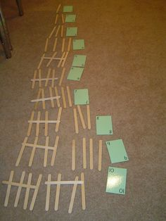 Tally marks: This tactile experience may help some students understand the concept better than just drawing them on paper.