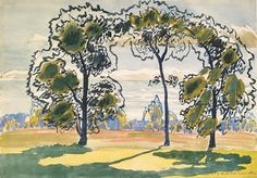 Charles Burchfield (US 1893-1967), The Shimmering Trees (Les arbres chatoyant), 1916.