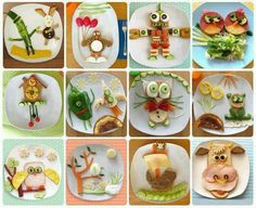 Whoever said don't play with your food, hadn't ever tried to convince a 4yr old to eat something health!