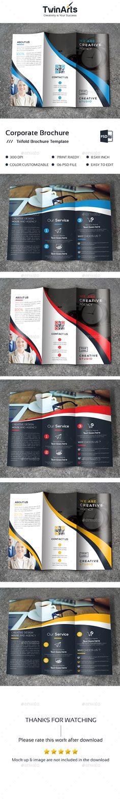Trifold  #Brochure - Brochures Print Templates Download here: https://graphicriver.net/item/trifold-brochure/19139290?ref=alena994