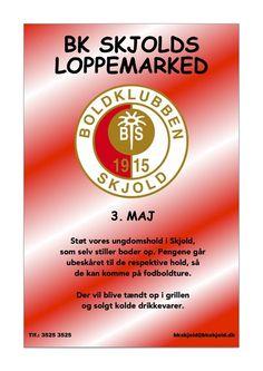 Forsiden på www.bkskjold.dk KOM TIL LOPPEMARKED D. 3 MAJ #bkskjold #boldklubbenskjold #skjold