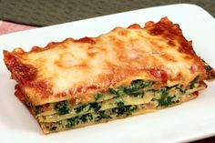 Marvelous Simple Spinach Lasagna: Layers Of Noodles, Spinach U0026 A Cottage Cheese,  Mozzarella U0026